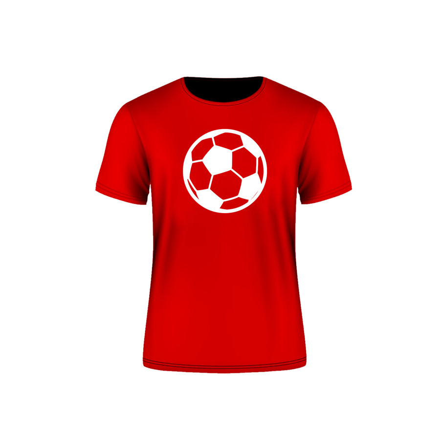 Red Arsenal Soccer Ball T-Shirt