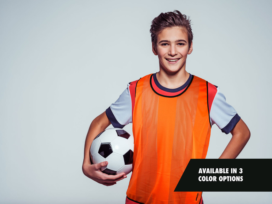 Striped Premier Soccer Training Bib - orange