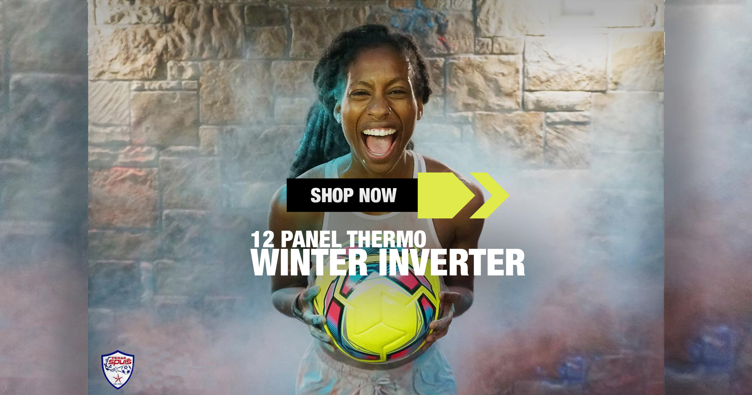 Inverter Winter Soccer  Ball Yellow