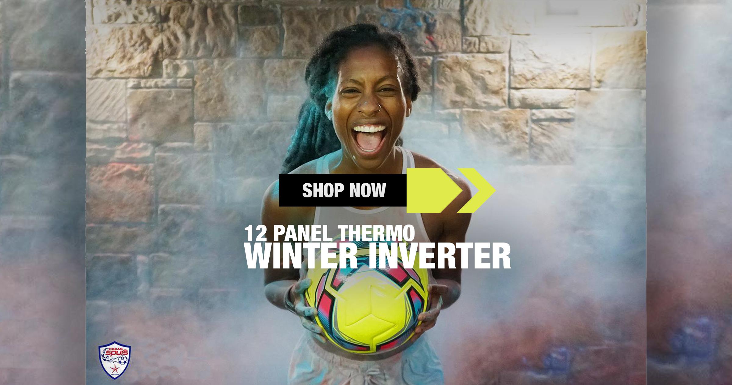 Inverter Winter Soccer  Ball Yellow