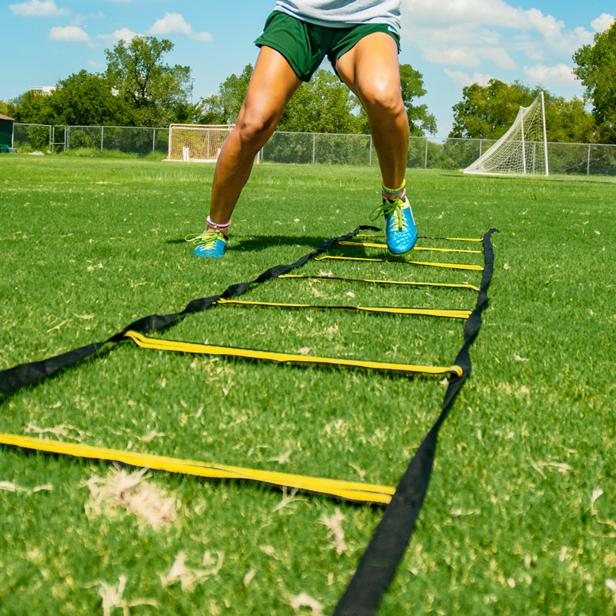 7712cd14d ... Nylon Slat Speed & Agility Ladder with Bag | Speed and Agility Soccer  Training Equipment ...