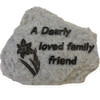 Pet Memorial - Dearly Loved Friend - Grey Granite