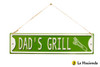 Embossed Metal Sign - Dad's Grill