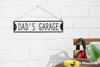 Embossed Metal Sign - Dad's Garage