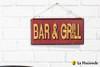 Embossed Metal Sign - Bar & Grill