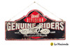 Embossed Metal Sign - Genuine Riders