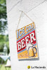 Embossed Metal Sign - Ice Cold Beer