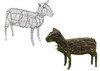 Sheep Topiary Sculpture Frame