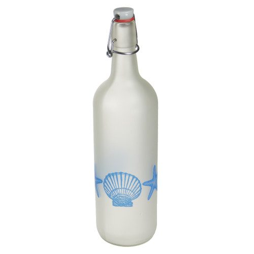 Lemonade Bottle with Scallops and starfish design