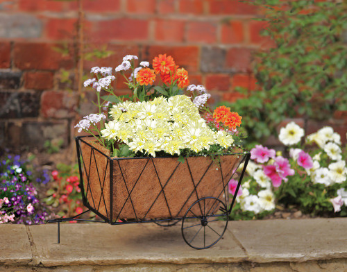 Haycart Planter Traditional Style Metal complete with Liner NEW