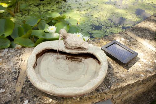 Ceramic Dove Fountain – Cream