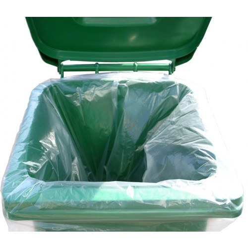 240 Litre Clear Recycled Wheelie Bin Liners