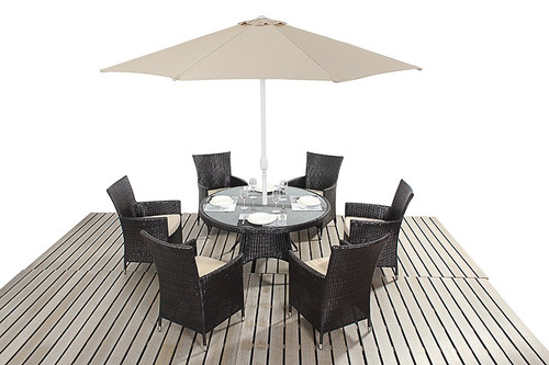 Rapallo Luxe Rattan Dining Table & Six Chairs