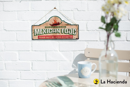 Embossed Metal Sign - Mexican Food