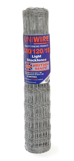 L10/120/15 50M Light Grade Stock Fencing