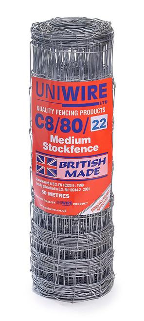 C8/80/22 50M Medium Grade Stock Fencing