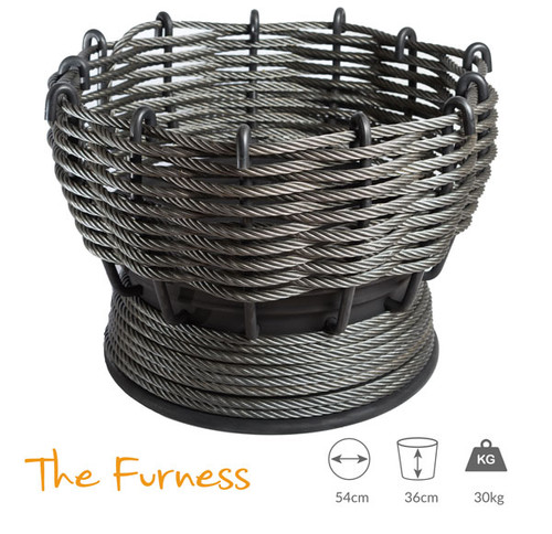 Wirefires 'The Furness' Woven Firebasket