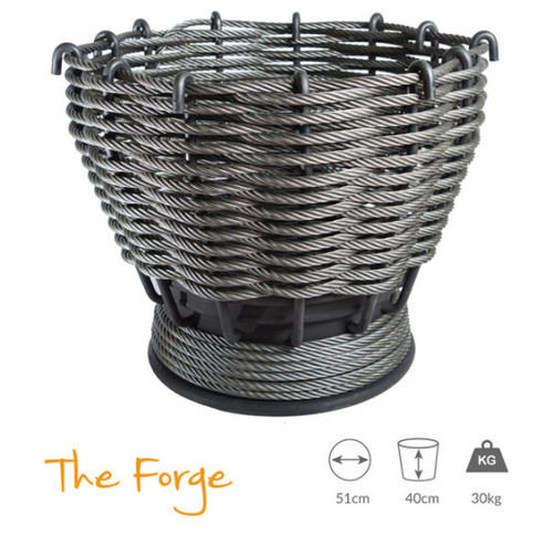 Wirefires 'The Forge' Large Woven Firebasket