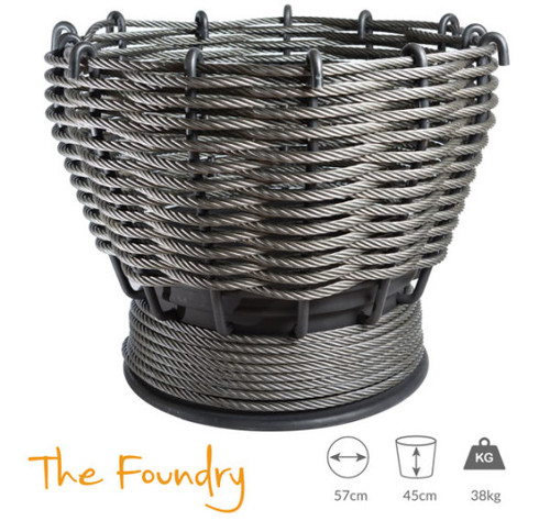 Wirefires 'The Foundry' Extra Large Woven Firebasket