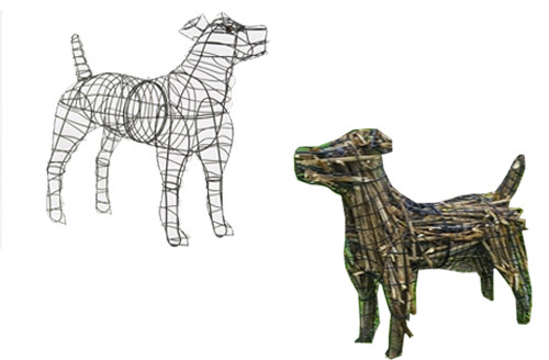 Dog (Jack Russell) Topiary Sculpture Frame
