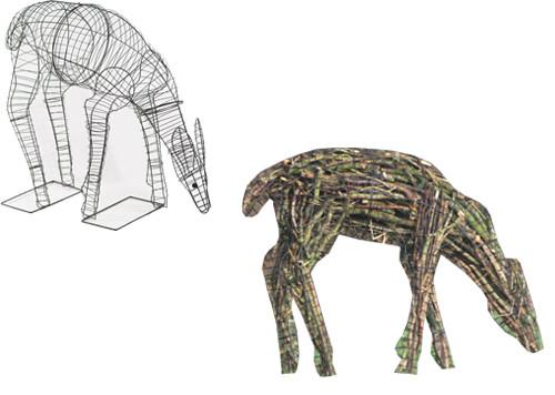 Deer (Doe) Eating Topiary Frame