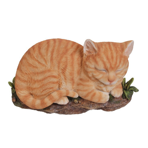Sleeping Cat - Ginger Wall Plaque