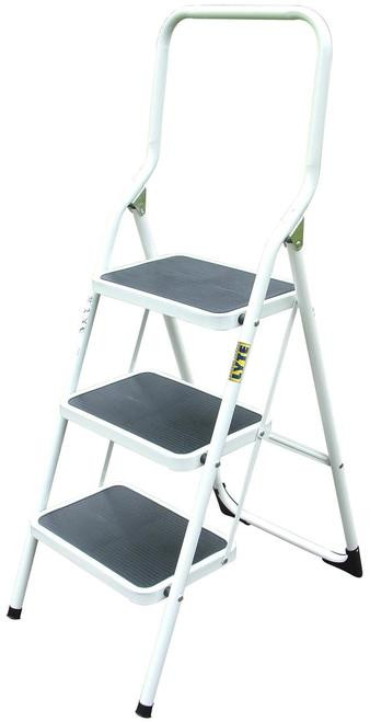 Lyte 3 Tread Step Stool with Extended Handrail