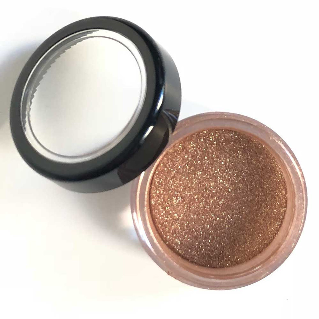 Under The Sun Bronze long wear metallic eye shadow Dawes Custom Cosmetics