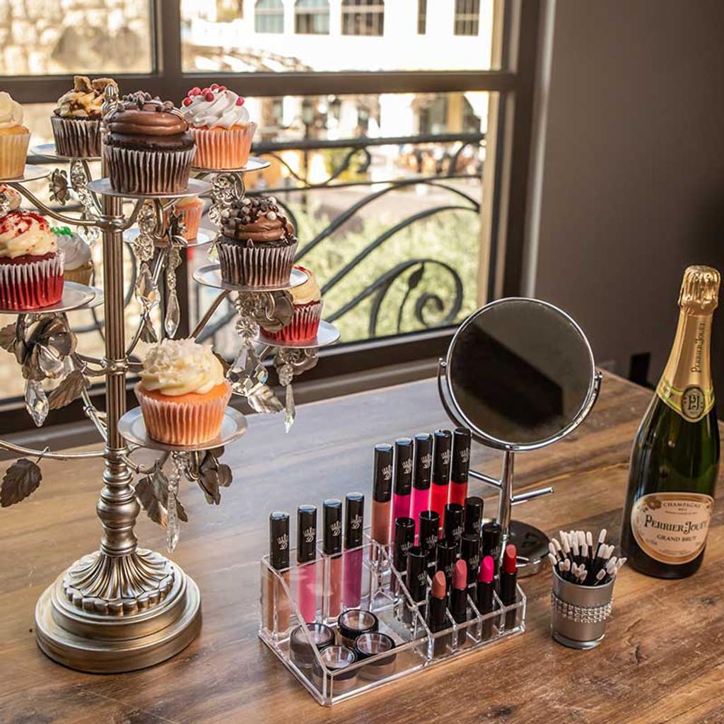 Bridal Makeup and Custom Lipstick Bar Las Vegas - Dawes Custom Cosmetics - Sin City Alcoholic Cup cakes