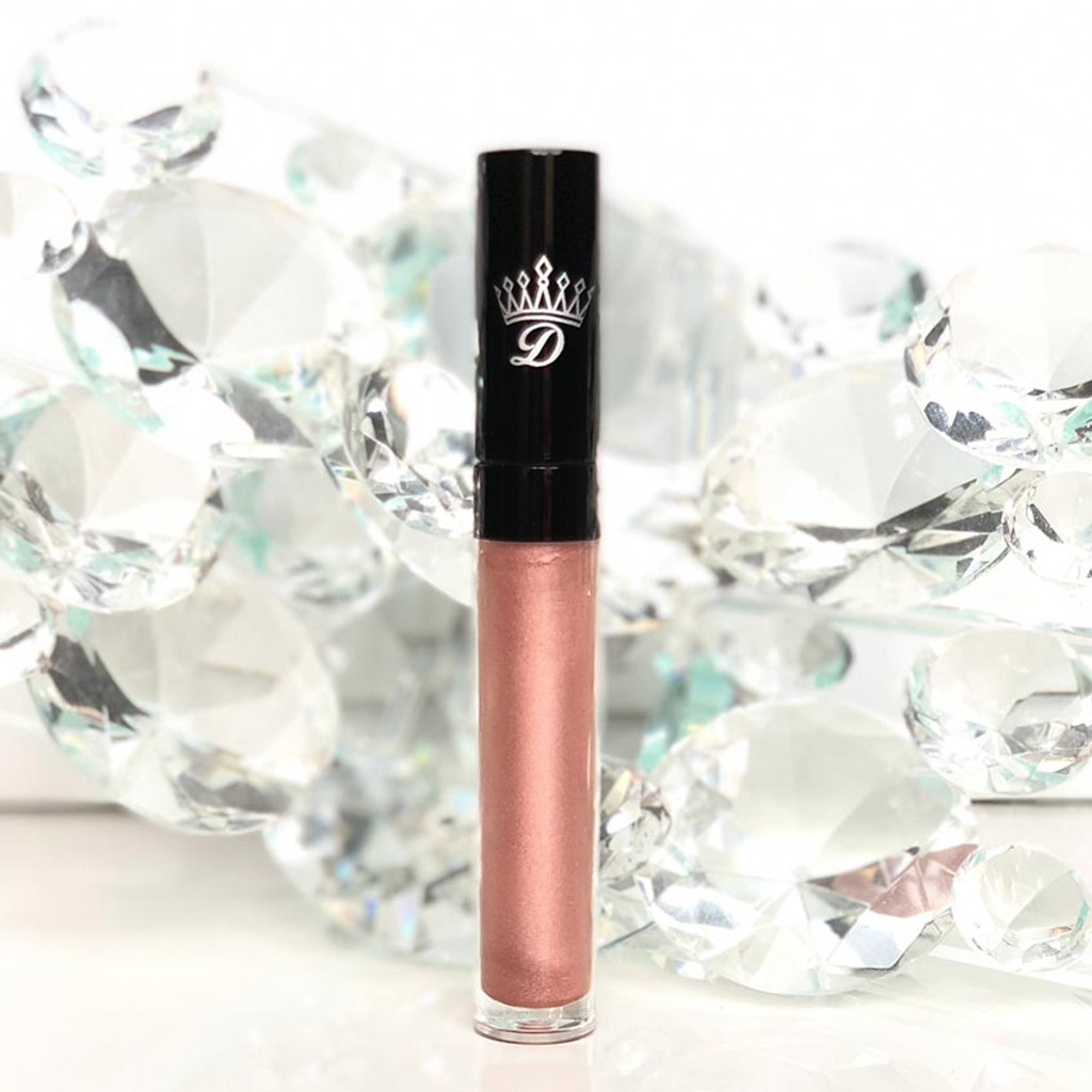 Metallic rose gold matte lipstick by Dawes Custom Cosmetics.