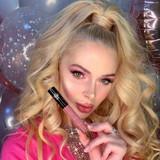 Mauve Nude Lip gloss by Dawes Custom Cosmetics. Shade Bora Bora. Model Yana Weiman.