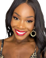 Black model Red Custom Lipstick made in USA Dawes Custom Cosmetics