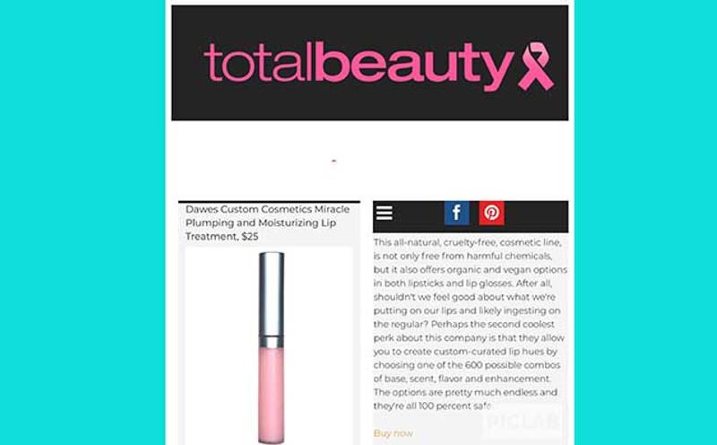 Dawes Custom Cosmetics In The News