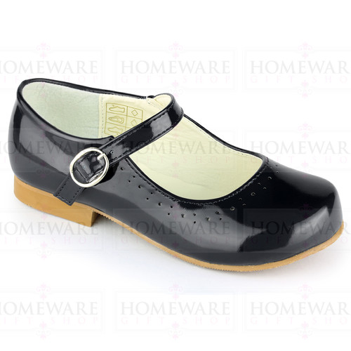 Mary Jane Girls Patent Black Shiny Spanish shoes