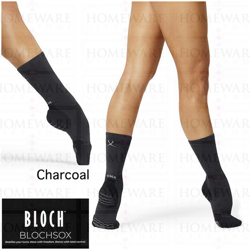 BLOCHSOX LADIES GIRLS DANCE SOCKS CHARCOAL COLOUR BALLET MODERN JAZZ