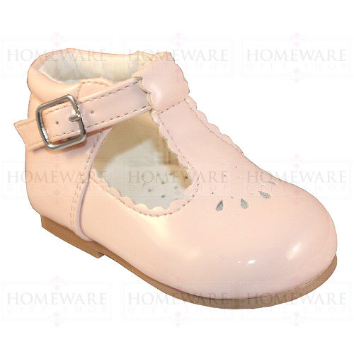 Baby Girls Spanish Tbar Shoe Pink Patent