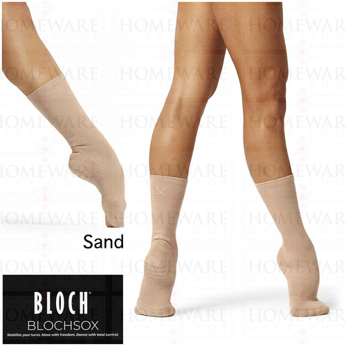 BLOCHSOX LADIES GIRLS DANCE SOCKS SAND COLOUR BALLET MODERN JAZZ