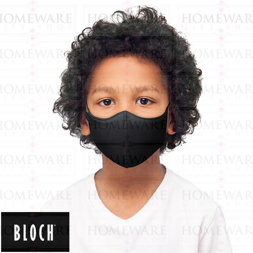 boys girls face cover mask black fabric washable bloch