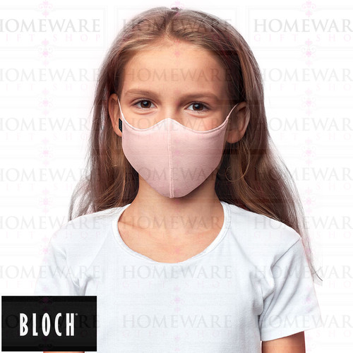 GIRLS PINK FACE COVER MASK BLOCH FABRIC SOFT WASHABLE