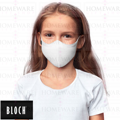 KIDS CHILDRENS FACE MASK BLOCH WHITE FACE COVER