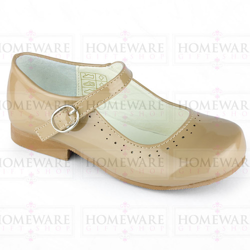 Mary Jane Girls Patent Camel Shiny Spanish shoes