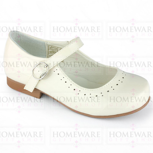 Mary Jane Girls Patent Cream Shiny Spanish shoes