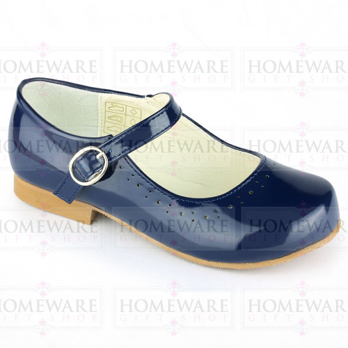 Mary Jane Girls Patent Navy Blue Shiny  Party Spanish shoes