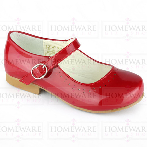 Mary Jane Girls Patent Red Shiny Spanish shoes Party