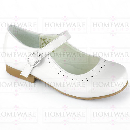 Mary Jane Girls Baby Patent White Shiny Spanish Party shoes