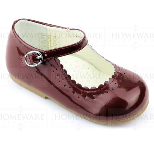 Girls Babies Burgundy Patent Mary Jane Shoes