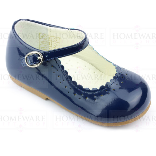 Girls Babies Navy Patent Mary Jane Shoes