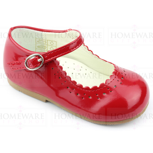 Girls Babies Red Patent Mary Jane Shoes