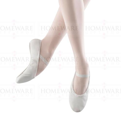 Ladies White leather ballet dance shoe Bloch