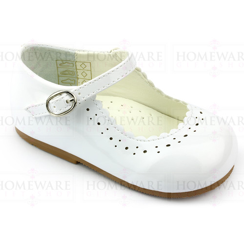 Girls Babies White Patent Mary Jane Shoes